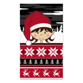 Cute Christmas Elf Bookmark Business Card