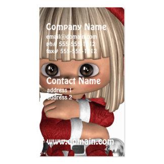 Cute Christmas Elf Business Cards