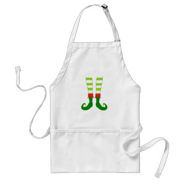 Christmas Themed Cute Christmas Elf Feet Adult Apron