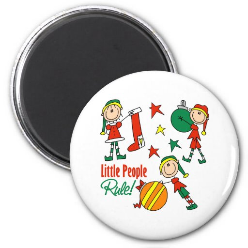 Cute Christmas Elf Gift Magnets