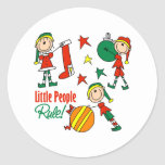 Cute Christmas Elf Gift Stickers