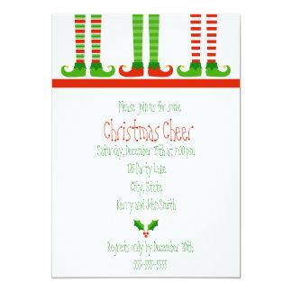 Cute Christmas Elf Invitation Announcements