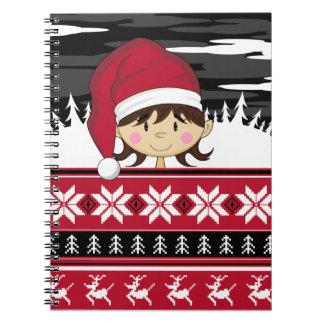 Cute Christmas Elf Notebook