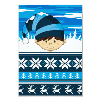 Cute Christmas Elf RSVP Card