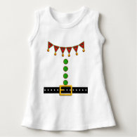 Cute Christmas Elf Suit Costume - Front and Back Tee Shirts
