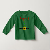 Cute Christmas Elf Suit Costume - Front and Back T-shirt