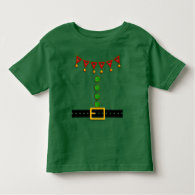 Cute Christmas Elf Suit Costume - Front and Back Tshirt