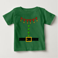 Cute Christmas Elf Suit Costume - Front and Back Tees