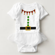 Cute Christmas Elf Suit Costume - Front and Back T Shirts