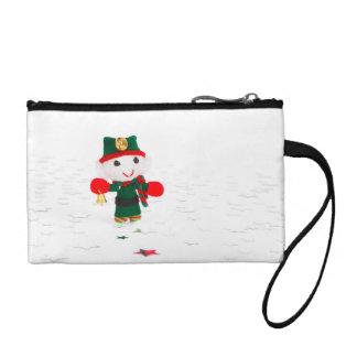 Cute Christmas elf toy Change Purses