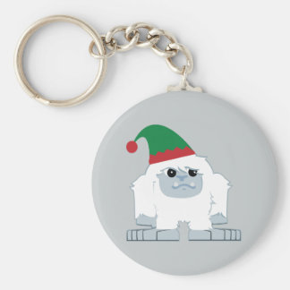 Cute Christmas Elf Yeti Keychain