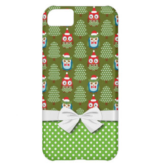 cute christmas elves santas helpers owl pattern iPhone 5C covers