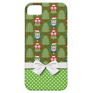 cute christmas elves santas helpers owl pattern iPhone SE/5/5s case