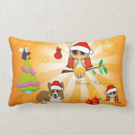Cute christmas figure throw pillows