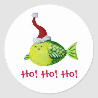 Cute Christmas Fish Stickers