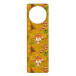 Cute Christmas Fox Door Hanger