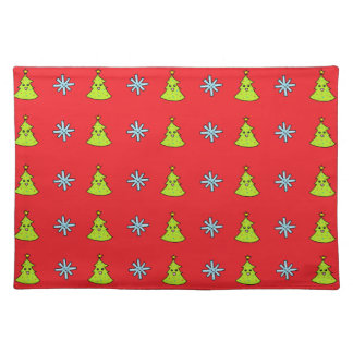 Cute Christmas Friends Cloth Placemat
