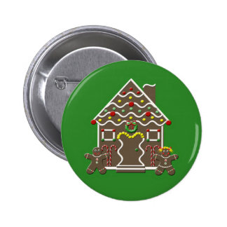 Cute Christmas Gingerbread House Buttons