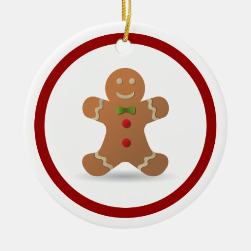 Cute Christmas Gingerbread Man Personalized Ornament