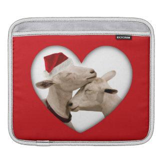 Cute Christmas Goat Couple iPad Sleeves