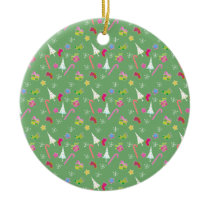 cute christmas goodies pattern ceramic ornament