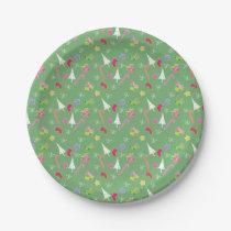 cute christmas goodies pattern paper plate
