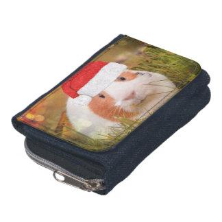 cute christmas guinea pig wallet