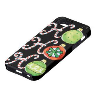 Cute Christmas Ho Ho Ho, Candy Canes Ornaments iPhone SE/5/5s Case