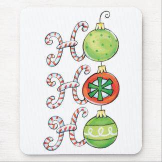 Cute Christmas Ho Ho Ho, Candy Canes Ornaments Mouse Pad