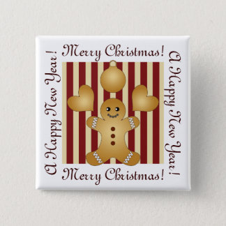 Cute Christmas Holiday Cookie Cartoon Kids Custom Button