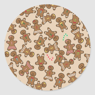 Cute Christmas Holiday Gingerbread Men Cookies Sticker