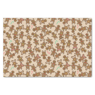 Cute Christmas Holiday Gingerbread Men Cookies Tissue Paper