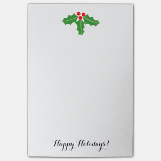 Cute Christmas holly leaves and berries Post-it Notes