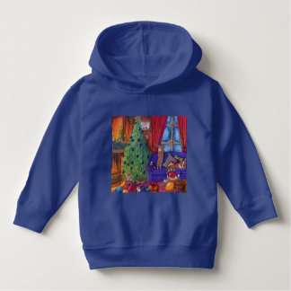 Cute Christmas hoodie featuring Corgi puppy dogs