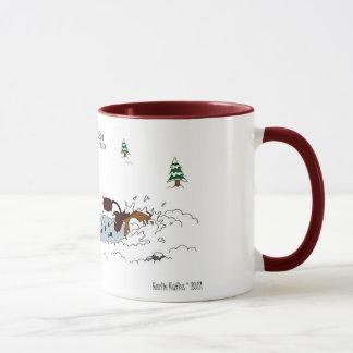 Cute Christmas Horse, Pony & Moose Cartoon Mug