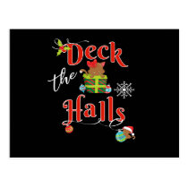 Cute Christmas Kitten Deck The Halls Cat Lovers Postcard