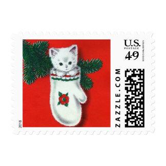 Cute Christmas Kitten Postage