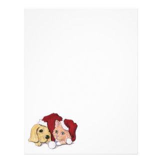 Cute Christmas Labrador Puppy and Orange Tabby Flyer