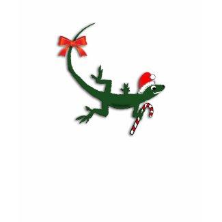 Cute Christmas Lizard T-Shirt shirt