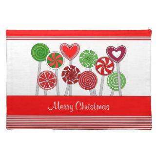 Cute Christmas Lollipops placemat