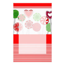 Cute Christmas Lollipops Stationery