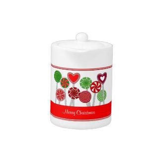 Cute Christmas Lollipops Teapot