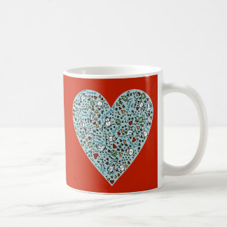 Cute Christmas Love Heart Mug