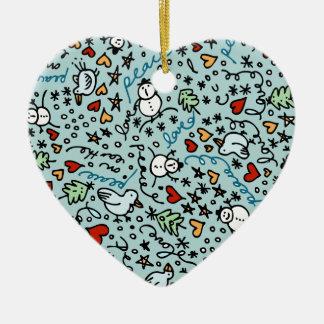 Cute Christmas Love Heart Ornament