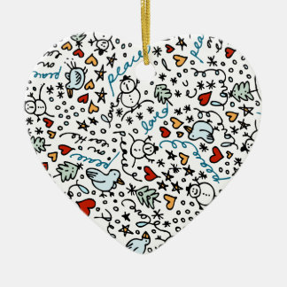 Cute Christmas Love Heart Ornament