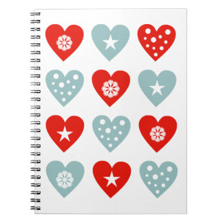 Cute Christmas Love Hearts Notebook