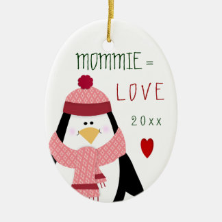 Cute Christmas Love MOMMIE Ornament
