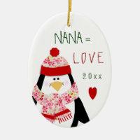 Cute Christmas Love Nana Ornament