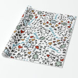 Cute Christmas Love Wrapping Paper
