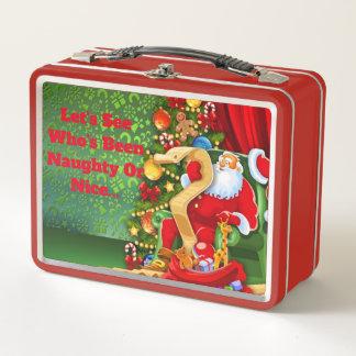 Cute Christmas Metal Lunch Box